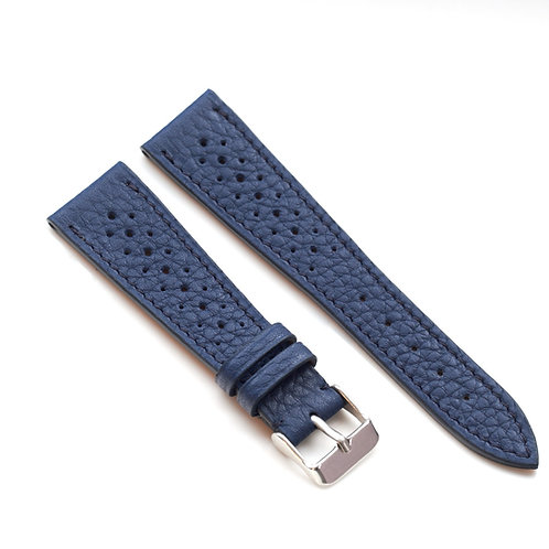 Blue racing vintage taurillon rubber lining