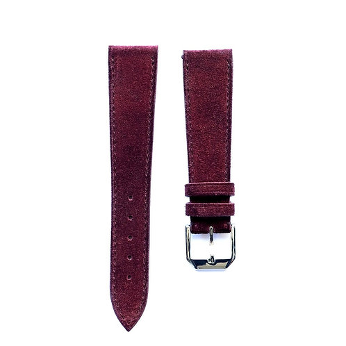 Burgundy Suéde watch strap