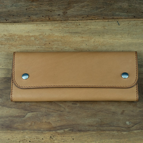 Travel watchpouch for 2 tan