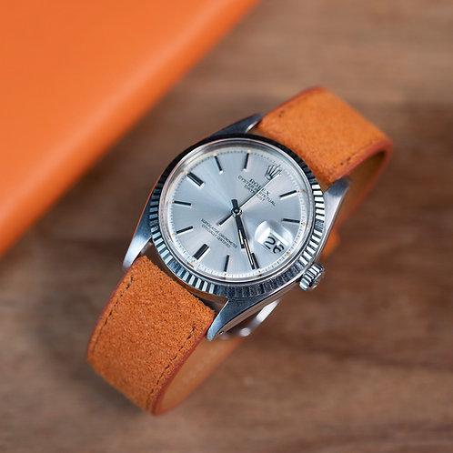 Orange Suede  watch strap