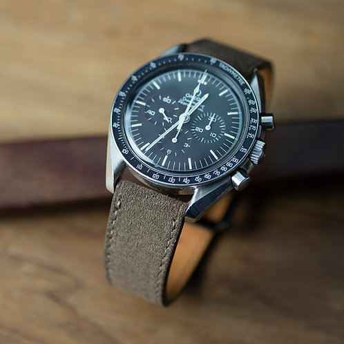 Smoke Brown Suede  watch strap