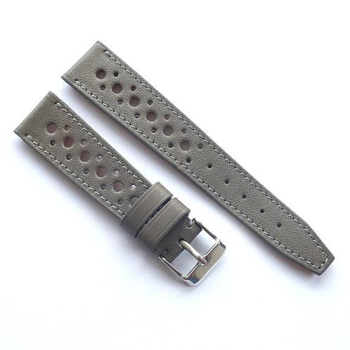 Grey calfskin racing strap