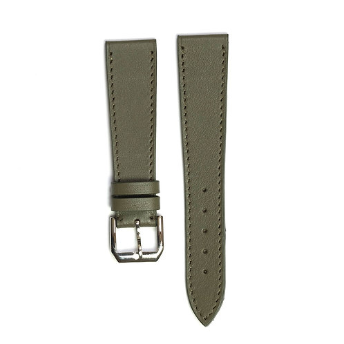 Green Kaki calfskin watch strap