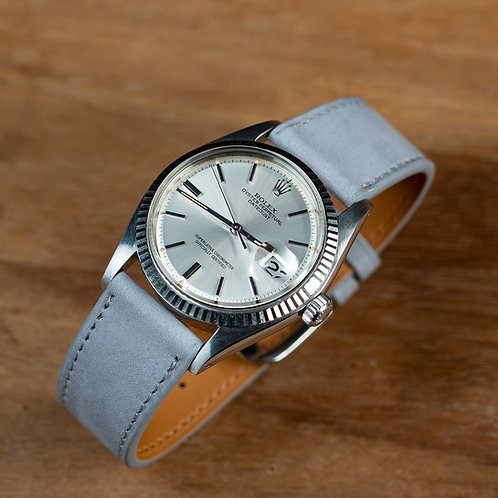 Grey Nubuck  watch strap