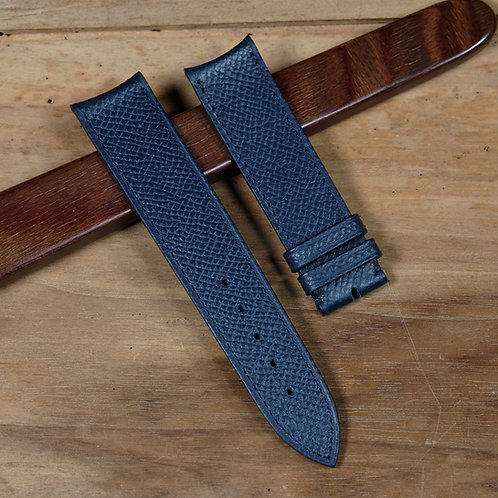 Marine Blue grained calfskin