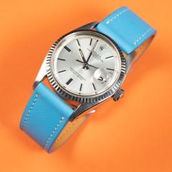 Blue azure watch strap