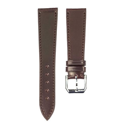 Shell cordovan watch strap burgundy
