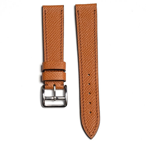 Grained Tan calfskin watch strap