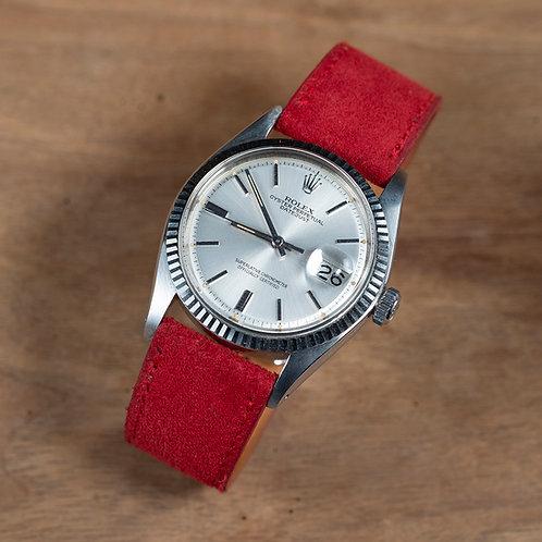 Red Suéde  watch strap