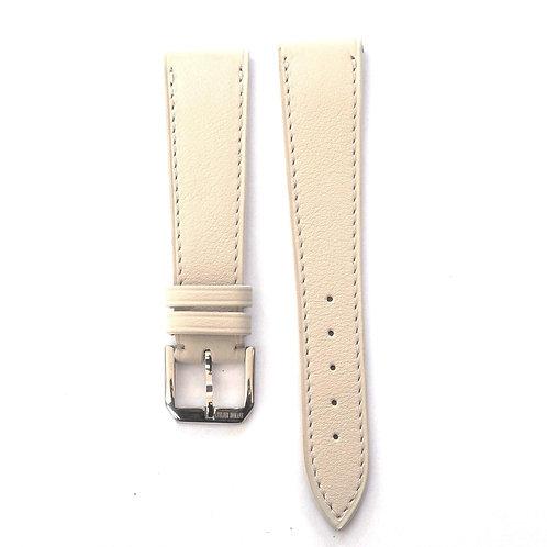 Light grey calfskin watch strap