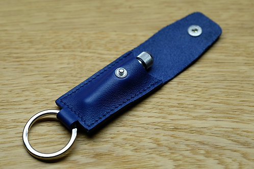 Spring bar tool blue leather pouch