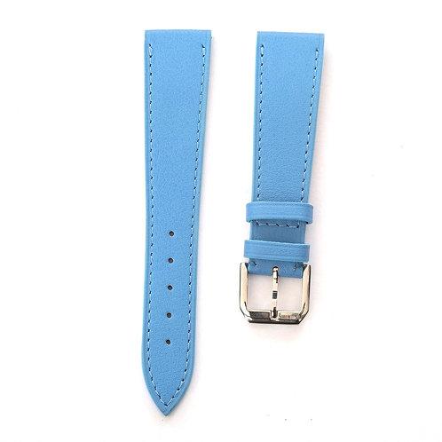 Blue calfskin watch strap