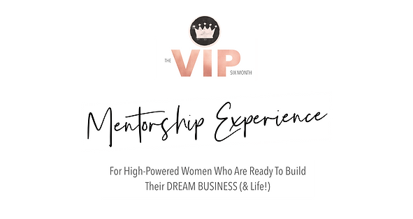 VIP Mentorship For High-Powered Women Wh