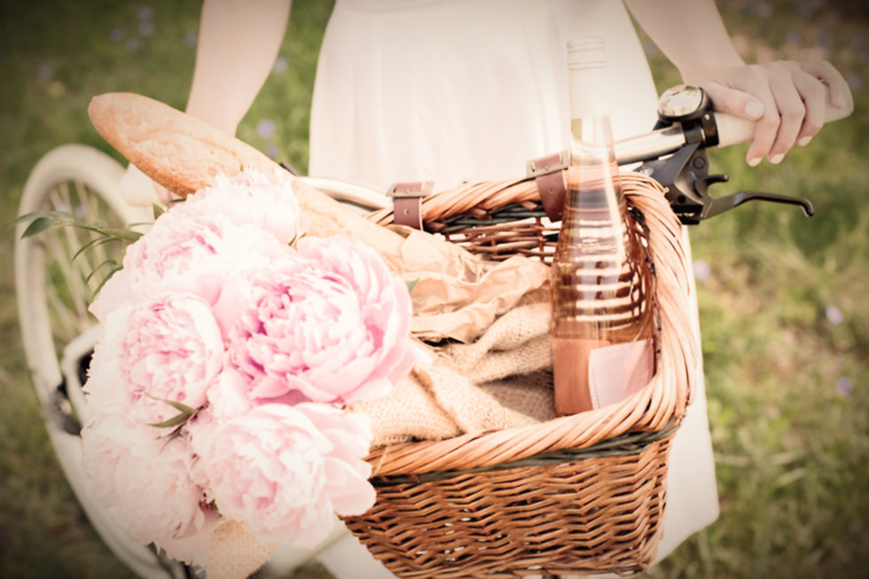Bicycle With Picnic Basket Representing
