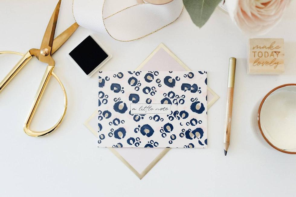 Blue Envelope, Writing Desk, Female Coac