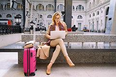 Female Entrepreneur Traveling & Selling