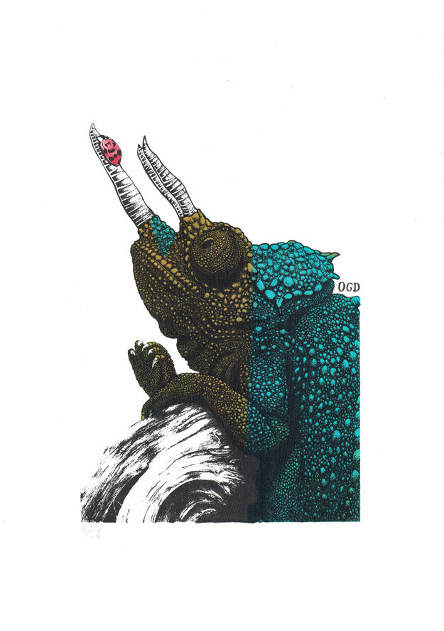 Chameleon Screenprint (Limited Edition)