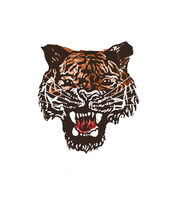 Tiger Lino Print