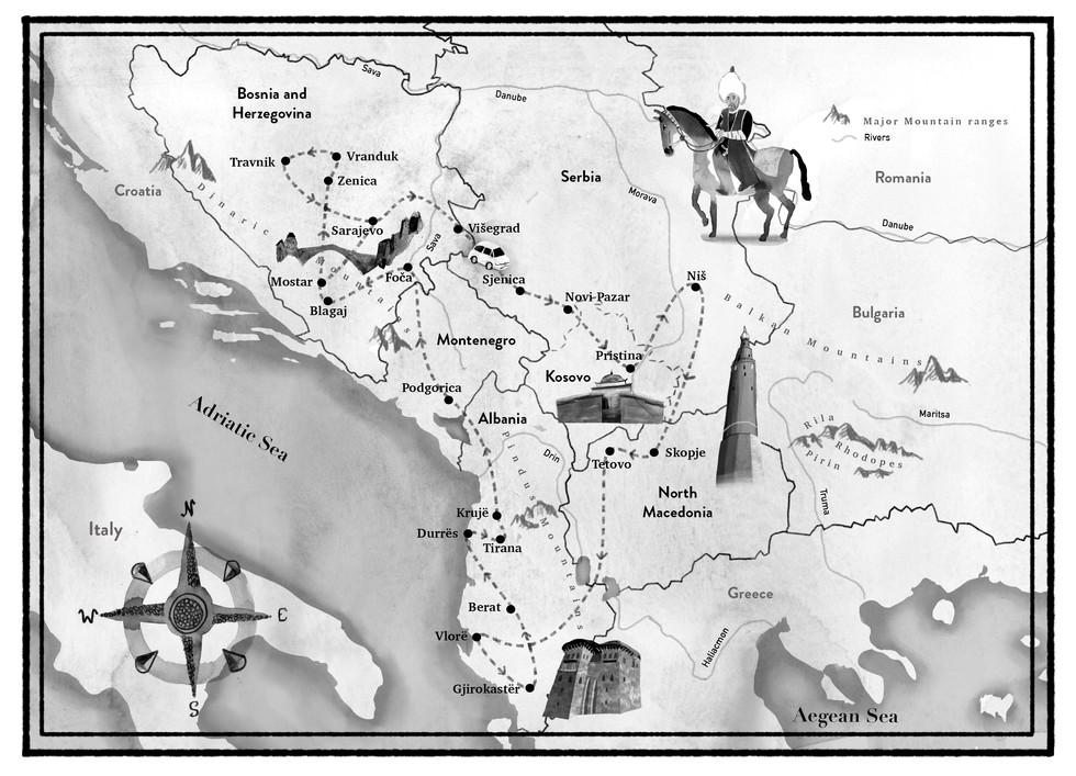 Minarets Map