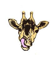 Giraffe Lino Print