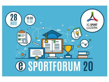 eSportforum 20 der IG Sport Luzern online