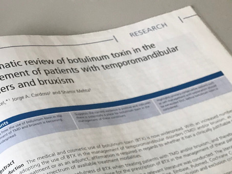 A new publication from Dr. Jalpesh Patel in this months edition of British Dental Journal