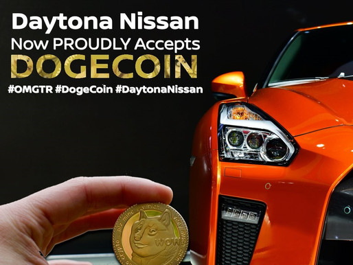 Daytona Nissan now accepting Dogecoin! Much Wow!