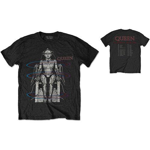 Queen - European Tour 1984 - imprimeu față / spate (tricou unisex)