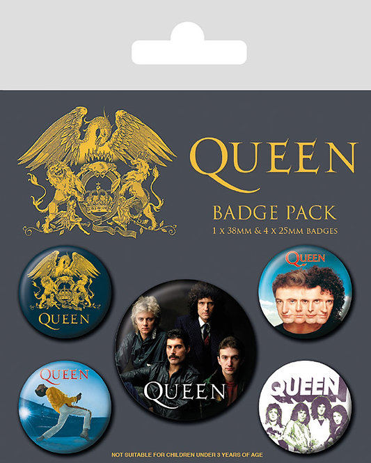 Queen - set 5 insigne