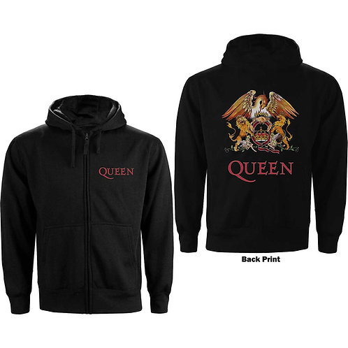 Queen -Classic Crest - imprimeu față / spate (hanorac unisex)