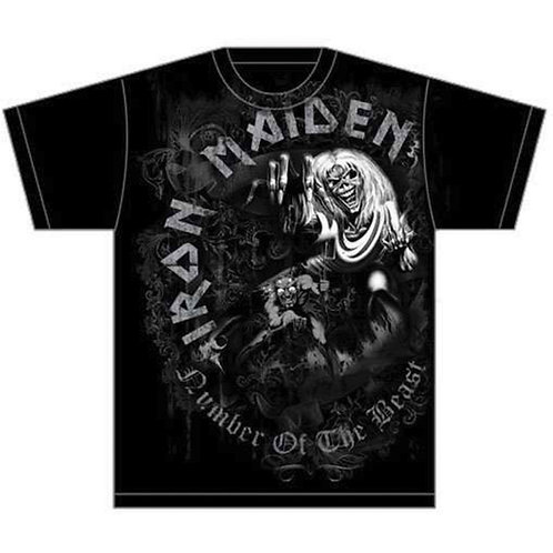 Iron Maiden - Number of the Beast Grey Tone (tricou unisex)
