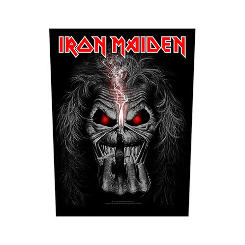 Iron Maiden - Eddie Candle Finger (patch - back)