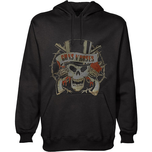 Guns N' Roses - Distressed Skull (hanorac unisex)