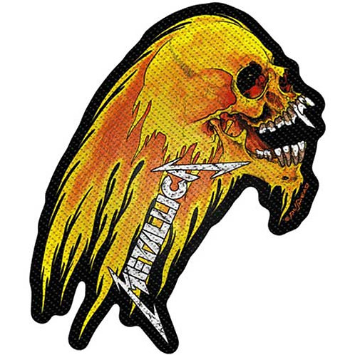 Metallica - Flaming Skull Cut-Out (patch)
