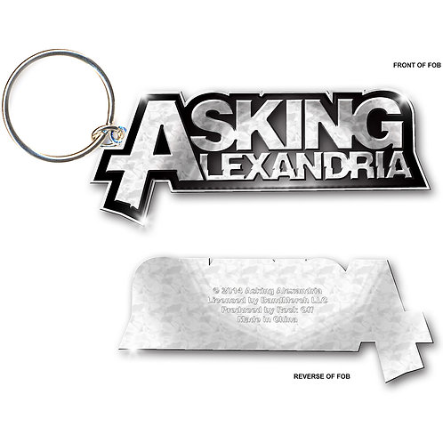 Asking Alexandria- Logo (breloc metalic)