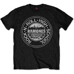 Ramones - Rock 'n Roll High School, Bowery, NYC (tricou unisex)