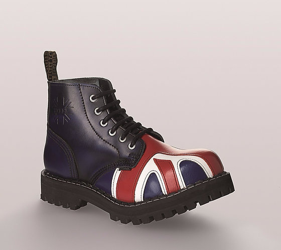Bocanci rock STEEL - 6 inele (British flag)