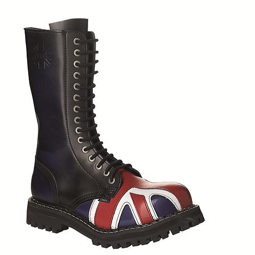 Bocanci rock STEEL - 15 inele (British Flag)