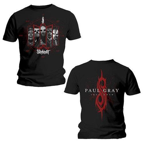 Slipknot - Paul Gray- imprimeu față/spate (tricou unisex)