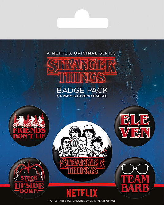 Stranger Things- set 5 insigne