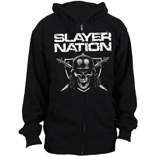 Slayer - Slayer Nation (hanorac unisex cu fermoar)
