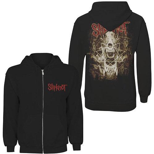 Slipknot - Skull Teeth- imprimeu față/spate (hanorac unisex cu fermoar)