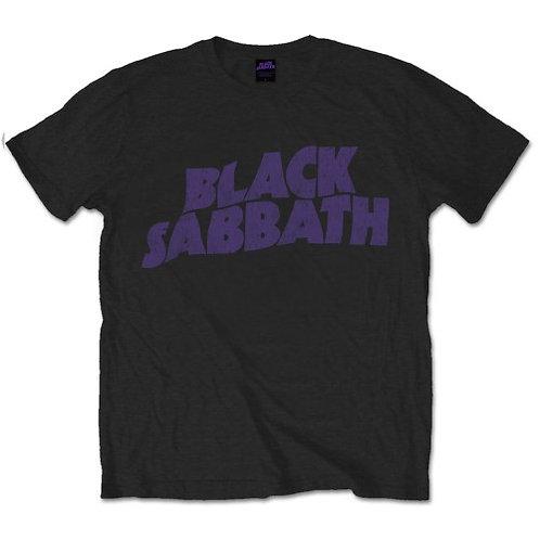 Black Sabbath - Wavy Logo Vntage (tricou unisex)
