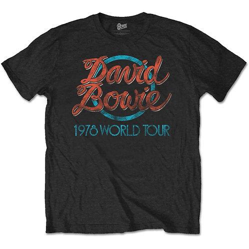 David Bowie - 1978 World Tour (tricou unisex)