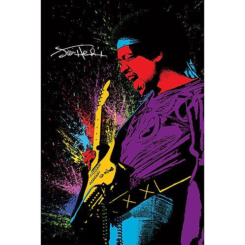 Jimi Hendrix - Paint (poster)