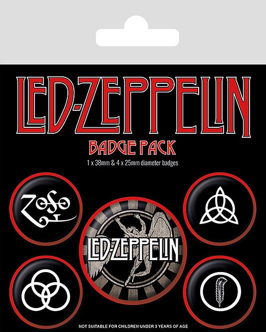 Led Zeppelin - set insigne