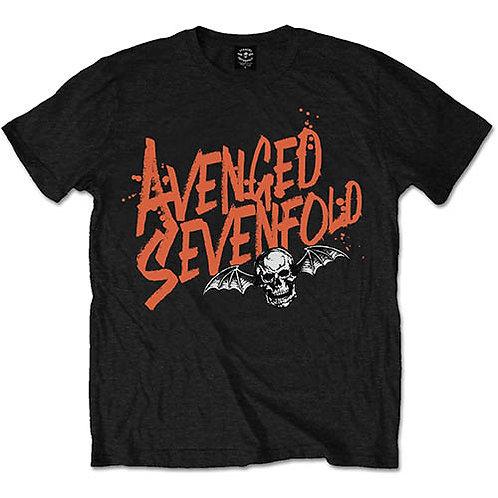 Avenged Sevenfold - Orange Splatter (tricou unisex)