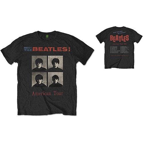 Beatles, The - American Tour 1964 - imprimeu față/spate (tricou unisex)
