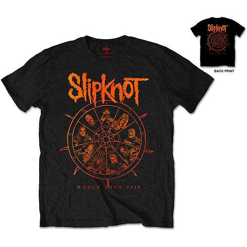 Slipknot- The Wheel - imprimeu față/spate (tricou unisex)