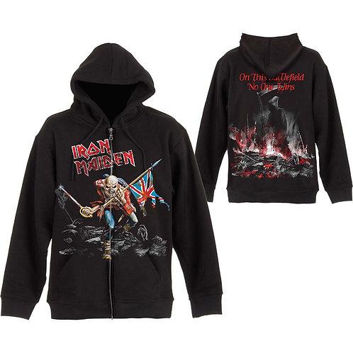 Iron Maiden -Scuffed Trooper- imprimeu față/spate (hanorac unisex cu fermoar)